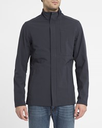 Selected Navy Zipped Pr Parka Blue