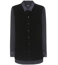 Rag And Bone Danni Velvet Shirt Black