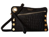 Hammitt Nash Small Space Nilo Suede Space Suede Leathers Brushed Gold Hardware Handbags Black