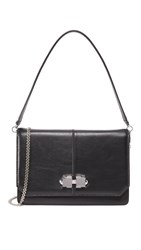 Carven Leather Cross Body Bag Black
