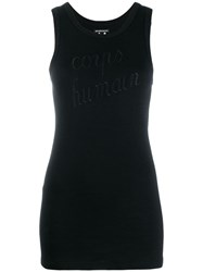 Ann Demeulemeester Embroidered Tank Top Black