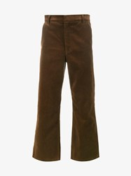 Martine Rose Cropped Corduroy Trousers Brown