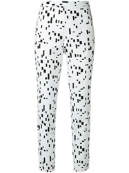 Andrea Marques Printed Slim Fit Trousers Black