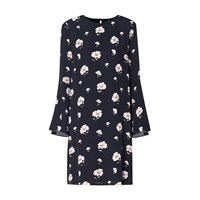 Paisie Floral Shift Dress With Flared Cuffs