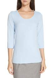 Boss Scoop Neck Stretch Jersey Top French Blue
