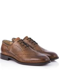 Hudson Twain Oxford Lace Up Shoes Cognac