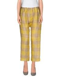 Erika Cavallini Semi Couture Erika Cavallini Semicouture Trousers Casual Trousers Women Yellow