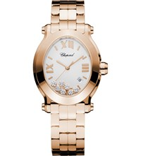 Chopard Happy Sport Oval 18Ct Rose Gold And Diamond Watch