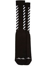 Off White C O Virgil Abloh Men's Striped Side Knee Socks Black
