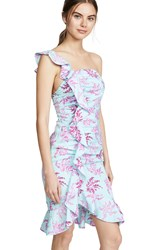Likely Lois Dress Blue Pink Multi
