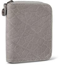 Parabellum Courier Zip Around Leather Billfold Wallet Gray