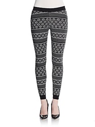 Romeo And Juliet Couture Abstract Striped Leggings Black Ivory