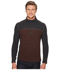 Prana Wentworth Long Sleeve 1 4 Zip Cocoa Men's Long Sleeve Pullover Brown