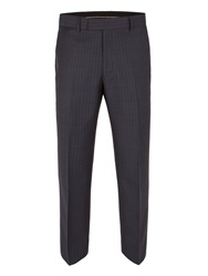 Pierre Cardin Sharkskin Stripe Trousers Blue