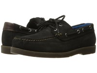 Timberland Piper Cove Leather Boat Shoe Black Nubuck Men's Lace Up Casual Shoes