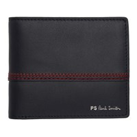 Paul Smith Ps By Navy Red Stitching Bifold Wallet