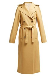 Khaite Felice Cotton Twill Trench Coat Beige