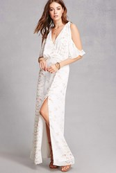 Forever 21 Oh My Love Slit Front Maxi Dress White