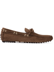 Car Shoe Suede Driving Shoes Brown