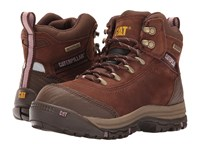 Caterpillar Ally 6 Waterproof Composite Toe Brown Women's Work Lace Up Boots
