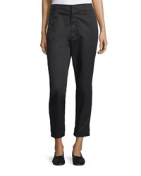 Vince Carrot Flat Front Chino Trousers Black