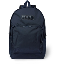 White Mountaineering Leather Trimmed Canvas Backpack Blue