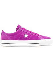 Converse One Star Pro Ox Trainers Purple