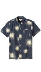Ymc Firework Shirt Navy Cream