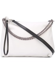 Barbara Bui Chain Shoulder Bag White