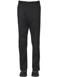 Lanvin 23Cm Stretch Wool Blend Pinstripe Pants