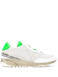 Leather Crown Logo Tape Low Top Sneakers White