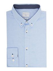 Selected Mark Pinpoint Oxford Shirt Light Blue