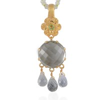 Emma Chapman Jewels Opium Green Amethyst And Peridot Pendant