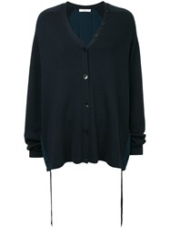 Tibi Luxe Knitted Cardigan Blue
