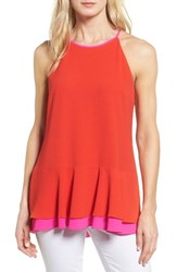 Vince Camuto Women's Colorblock Halter Style Top
