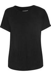 Current Elliott The Rolled Sleeve Cotton Slub T Shirt Black