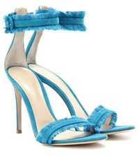 Gianvito Rossi Caribe Suede Sandals Blue