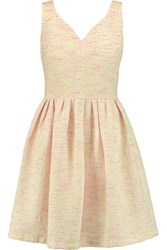 Raoul Primrose Cotton Blend Boucle Tweed Mini Dress Pink