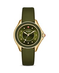 Michele Cape Topaz Studded Watch 38Mm Green