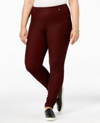 Michael Kors Plus Size Patterned Leggings Black Red Blaze