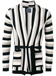 Laneus Striped Cardigan Nude Neutrals
