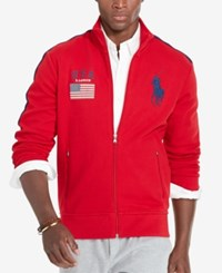 Polo Ralph Lauren Men's Graphic Full Zip Track Jacket Red