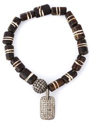 Loree Rodkin Embellished Bracelet Brown
