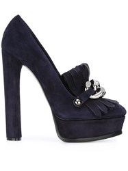 Casadei Embellished Platform Pumps Pink And Purple