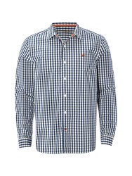 White Stuff Men's Heartland Mini Check Ls Shirt Navy