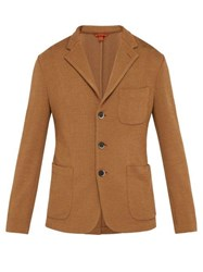 Barena Venezia Toreco Single Breasted Jersey Blazer Beige