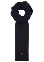 Polo Ralph Lauren Navy Ribbed Wool Scarf