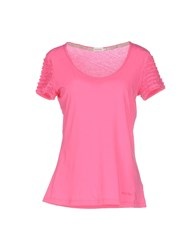 Henry Cotton's Topwear T Shirts Women Fuchsia