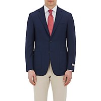 Canali Men's Two Button Kei Sportcoat Navy