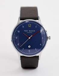 Ted Baker Ethan Leather Watch Green
